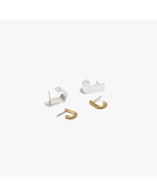 Madewell   Metallic Two-pack Hug Earrings   Lyst
