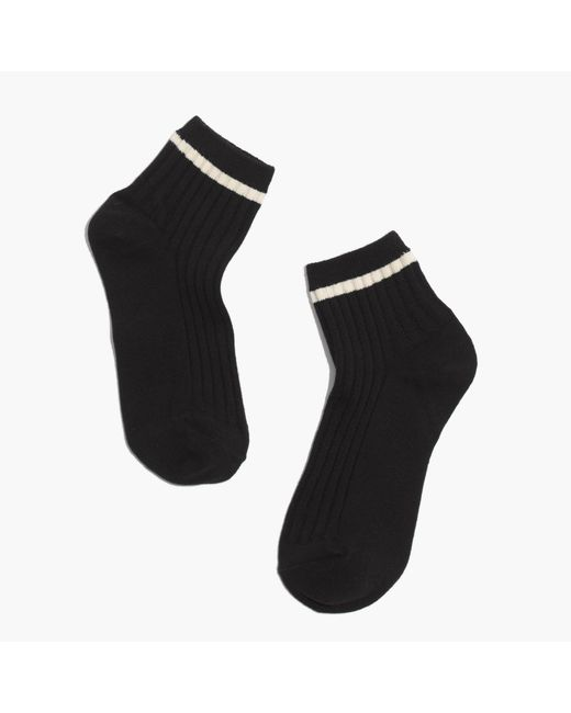 Madewell | Black Border-stripe Ankle Socks | Lyst