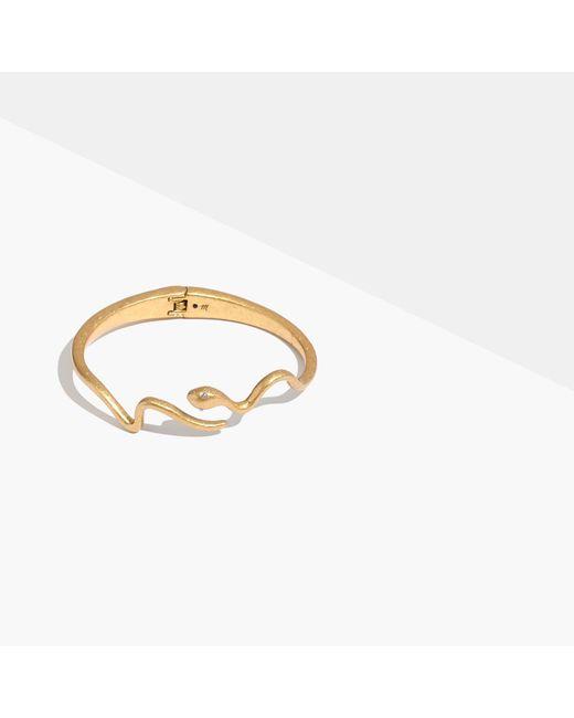 Madewell | Metallic Snake Hinge Cuff Bracelet | Lyst