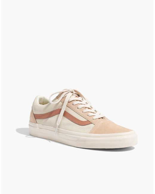 1dfea5a5b2b ... Madewell - Natural X Vans Unisex Old Skool Lace-up Sneakers In Camel  Colorblock ...