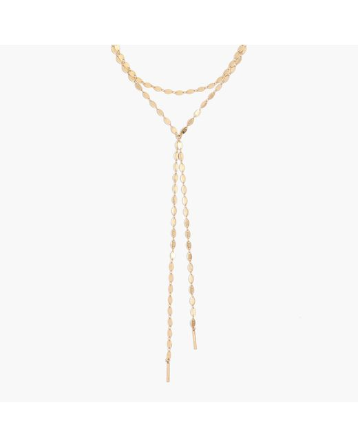 Madewell - Metallic Waterfall Lariat Necklace - Lyst