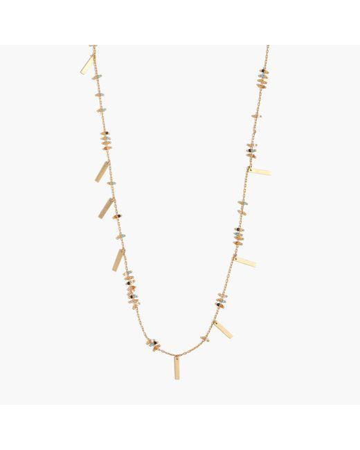 Madewell - Metallic Beaded Layering Necklace - Lyst