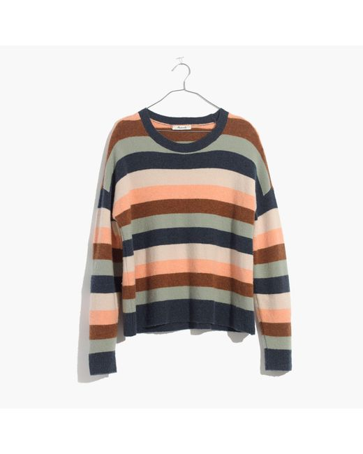 Madewell | Blue Pullover Sweater In Elmwood Stripe | Lyst
