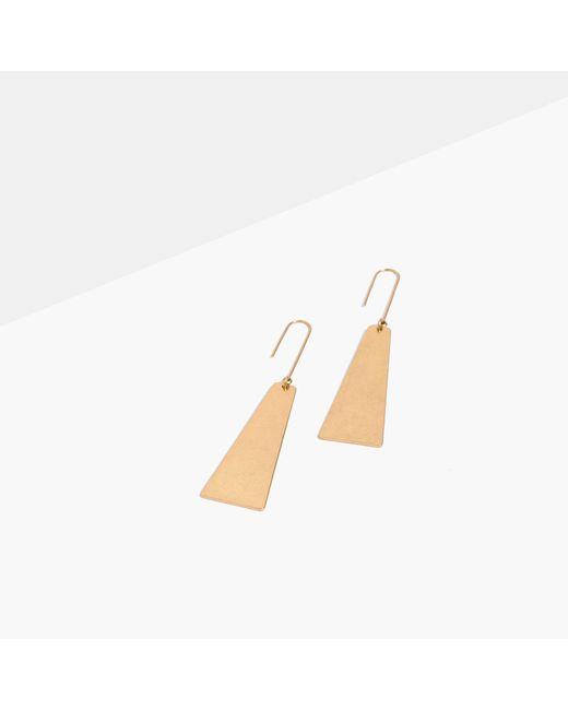 Madewell | Metallic Petaldrop Earrings | Lyst