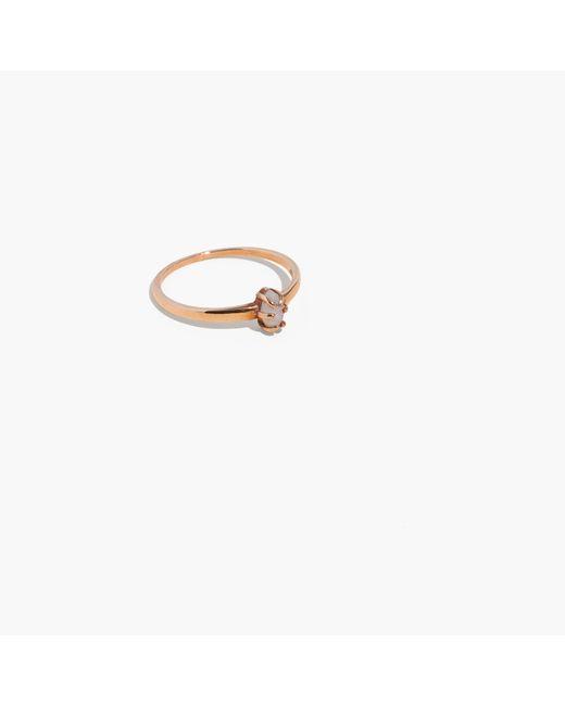 Madewell | Metallic Demi-fine Bronze Moonstone Ring | Lyst