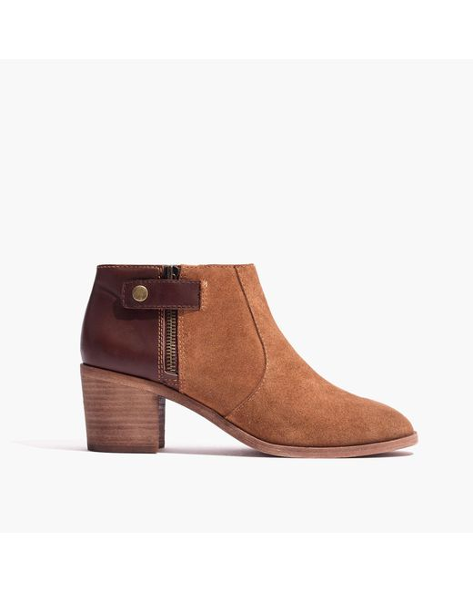 Madewell | Brown The Alicia Boot | Lyst