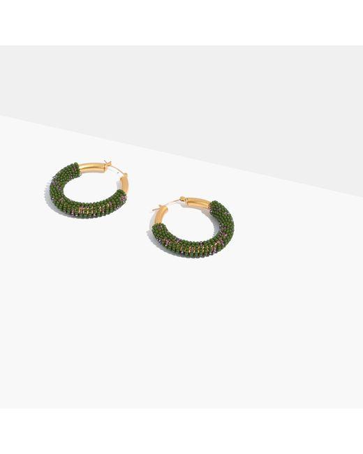 Madewell | Multicolor Bead-wrapped Hoop Earrings | Lyst