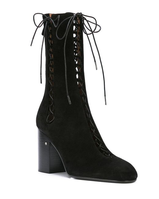 Laurence Dacade Black Suzy Lace-up Boots