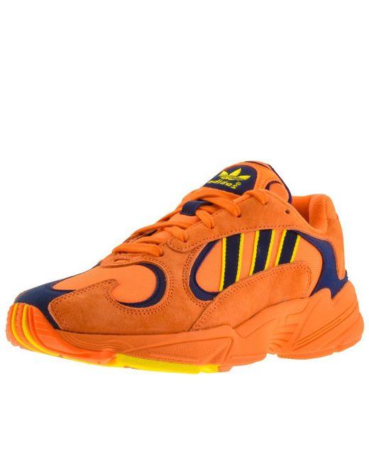 a6624ecd4cf adidas Originals Yung 1 Trainers Orange in Orange for Men - Save 51 ...