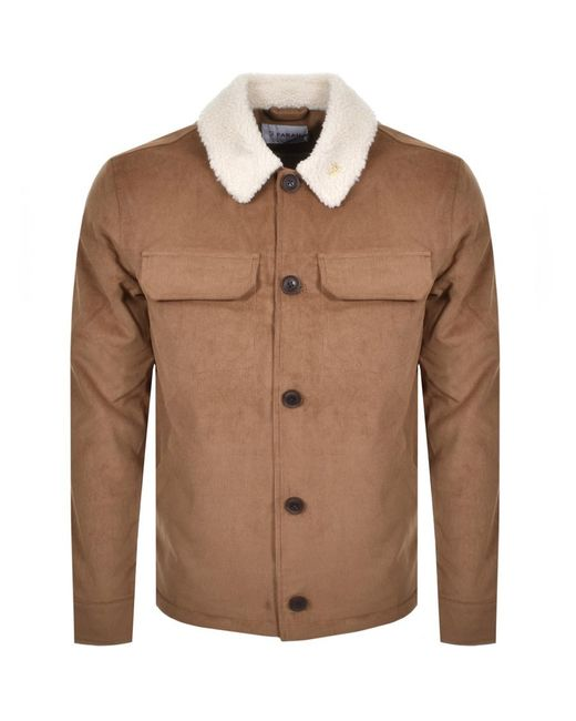Farah Brown Kingsland Corduroy Jacket for men