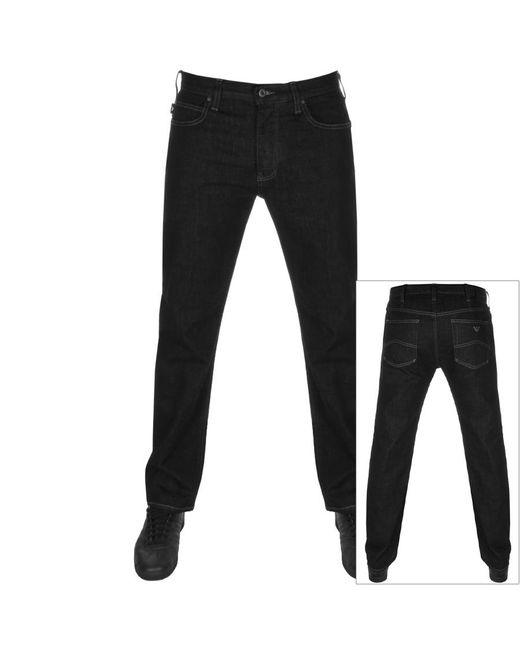 Armani Black Emporio J21 Regular Fit Jeans for men