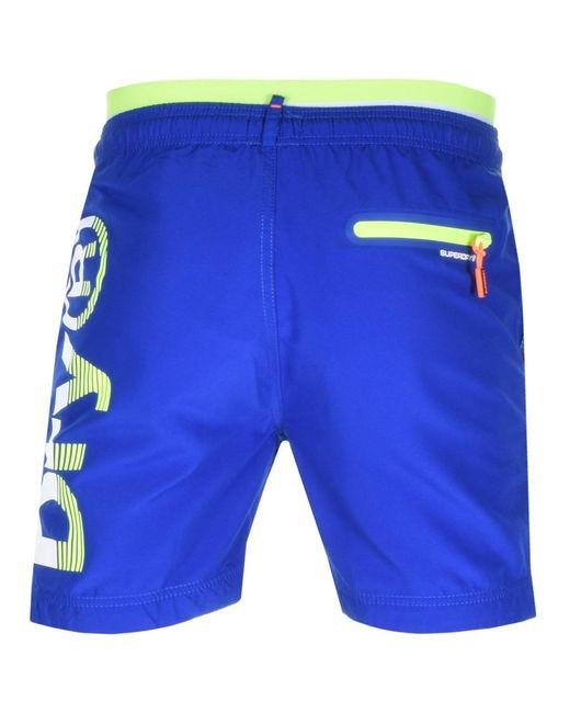 Superdry - State Volley Swim Shorts Blue for Men - Lyst