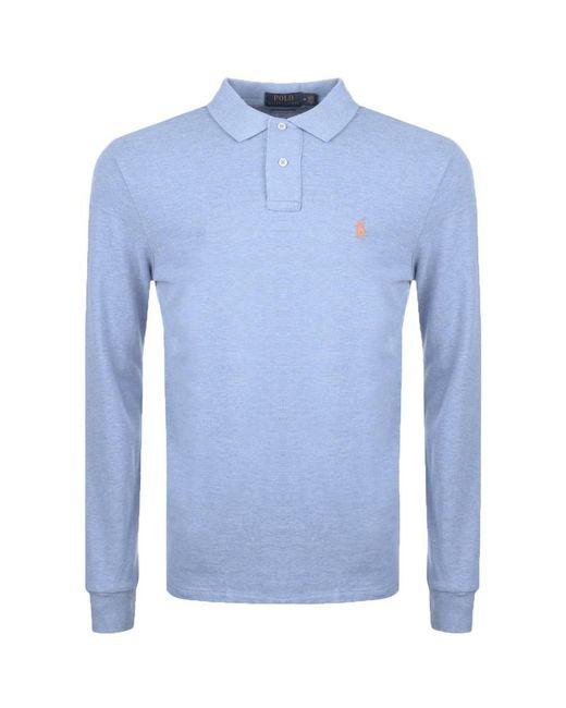 Ralph Lauren | Custom Slim Fit Polo T Shirt Blue for Men | Lyst