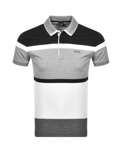 BOSS Athleisure Black Paddy 4 Polo T Shirt for men