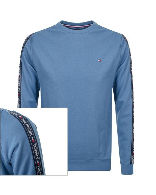 642c562e Tommy Hilfiger Taped Sweatshirt Blue in Blue for Men - Lyst
