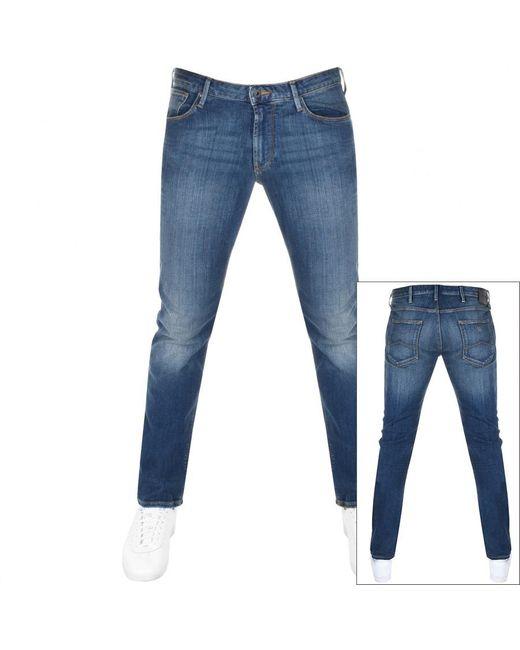 Emporio Armani Blue Emporio J06 Slim Fit Jeans for men