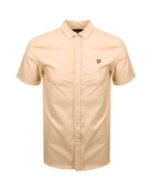 Lyle & Scott - Lyle And Scott Short Sleeved Oxford Shirt Orange for Men - Lyst