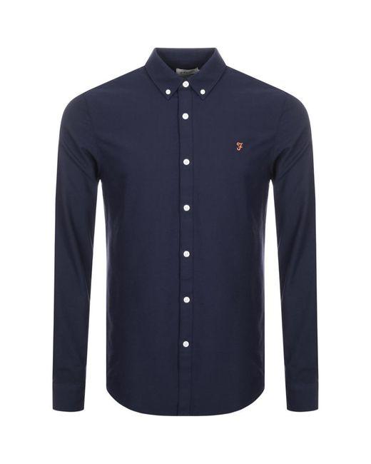 Farah Blue Brewer Shirt for men