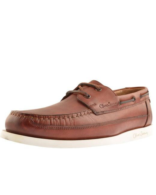 Oliver Sweeney Brown Sweeney London Lufton Boat Shoes for men