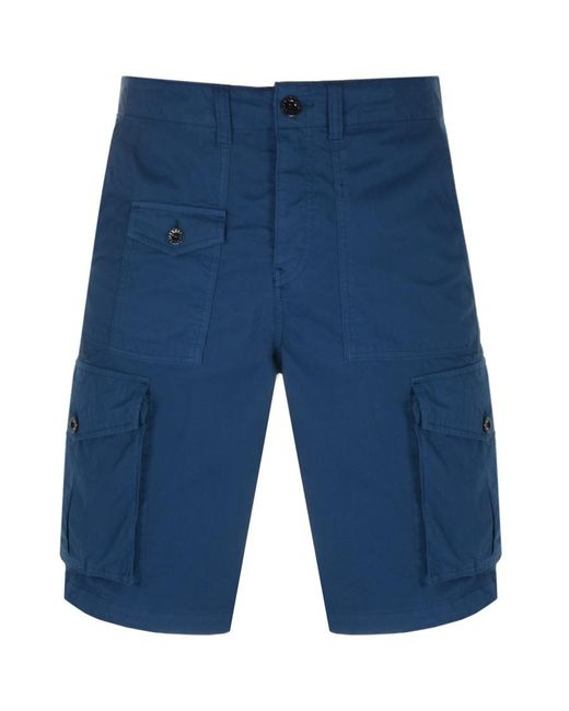 Pretty Green Blue Cargo Shorts for men