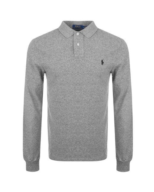 Ralph Lauren | Gray Slim Fit Polo T Shirt Grey for Men | Lyst