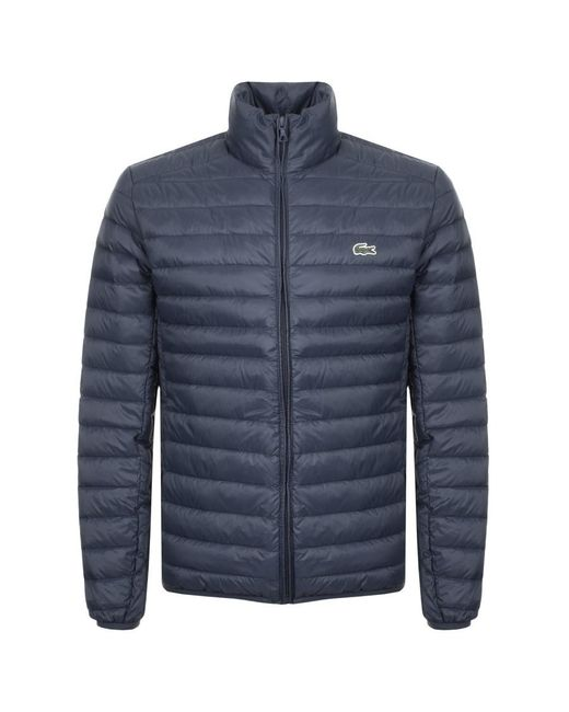 Lacoste - Blue Full Zip Padded Jacket Navy for Men - Lyst