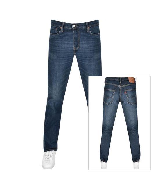 Levi's Blue 502 Regular Tapered Jeans for men