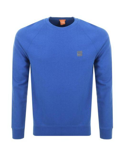 BOSS Orange   Wheel Sweatshirt Blue for Men   Lyst