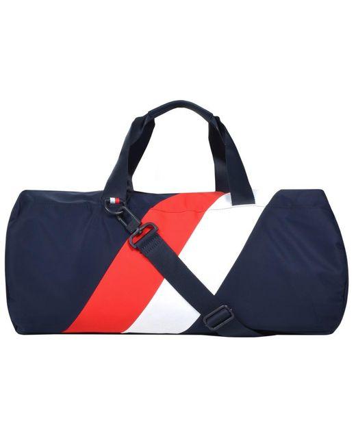 af73a8ed7 ... Tommy Hilfiger - Blue Framed Duffle Bag Navy for Men - Lyst ...