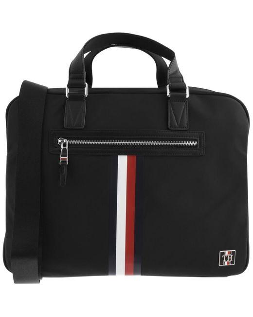 Tommy Hilfiger Black Laptop Bag for men