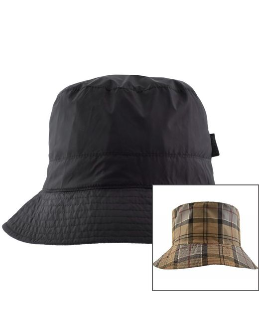a9d08e02f4f Barbour Waterproof Reversible Bucket Hat Navy in Blue for Men - Save ...