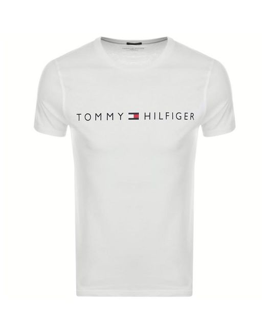 Tommy Hilfiger White Logo T Shirt for men