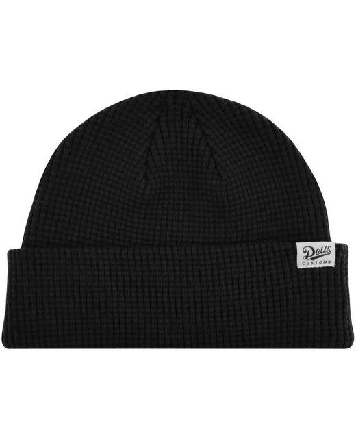 Deus Ex Machina Black Waffle Beanie Hat for men