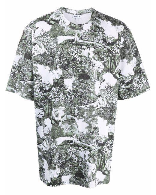 KENZO Green Dreamers Graphic-print Organic Cotton T-shirt for men