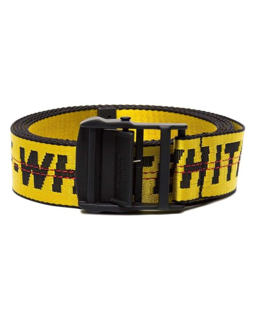 """Off-White c/o Virgil Abloh Yellow """"industrial"""" Belt for men"""