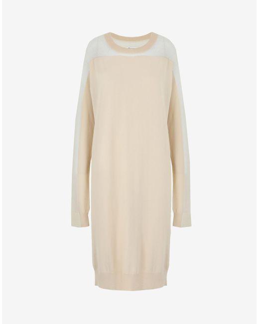 Maison Margiela Spliced ニット ドレス White