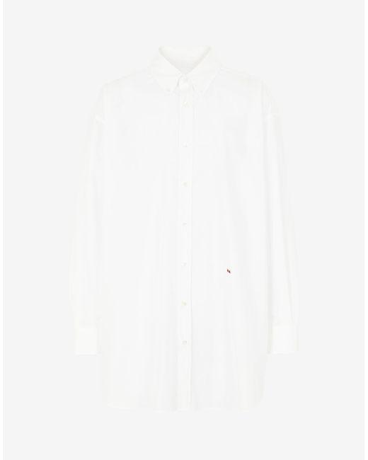 メンズ Maison Margiela M エンブロイダード シャツ White