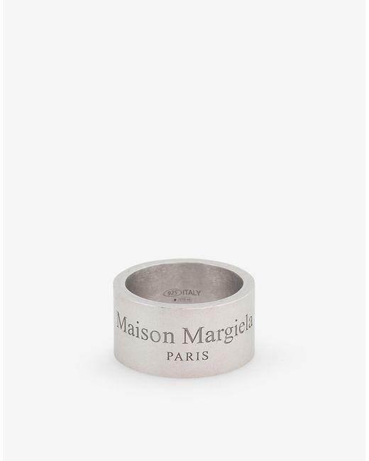 メンズ Maison Margiela ロゴ ワイド リング Metallic