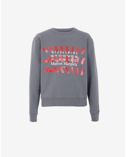 メンズ Maison Margiela Tapeプリント スウェットシャツ Gray