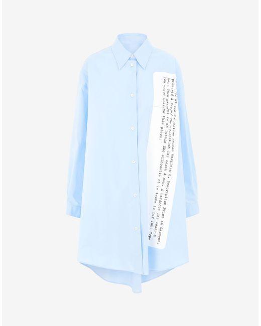 Maison Margiela アーカイブ プリント シャツドレス Blue