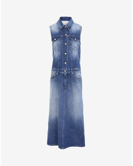 Maison Margiela Spliced デニム シャツドレス Blue