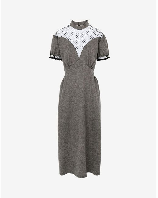 Maison Margiela シェブロン イブニングドレス Gray