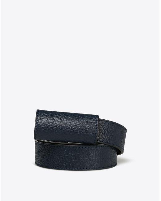Maison Margiela | Black Thin Printed Calfskin Leather Belt | Lyst