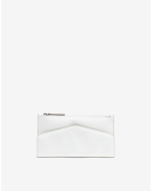 Maison Margiela レザー フラップ ウォレット White