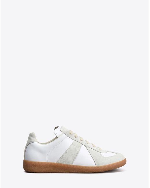 Maison Margiela Replica Calfskin Sneakers White