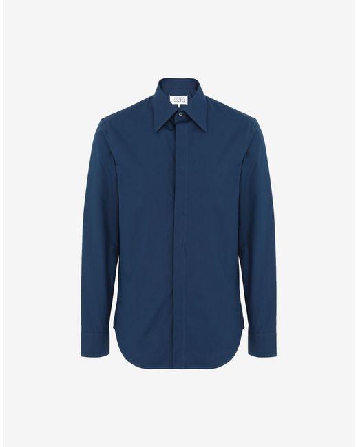 メンズ Maison Margiela ポプリン シャツ Blue