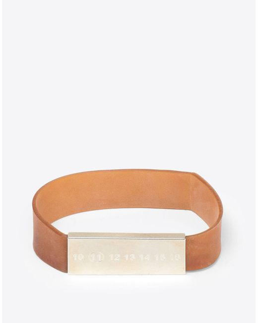 Maison Margiela - Brown Rubber Band Bracelet for Men - Lyst