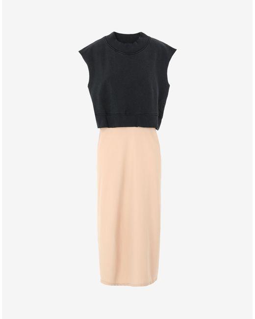 Maison Margiela Spliced スウェットシャツ ドレス Gray