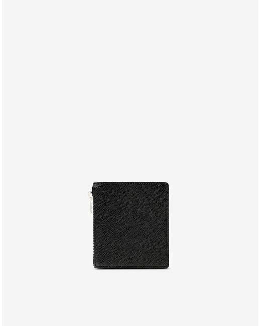 メンズ Maison Margiela 4ステッチ バイフォールド ウォレット Black