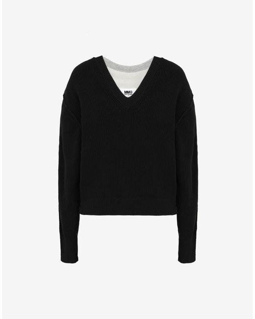 Maison Margiela Spliced セーター Black